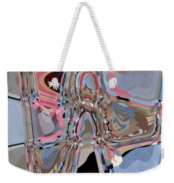 Weekender Tote Bag featuring the digital art Exit by Eleni Mac Synodinos