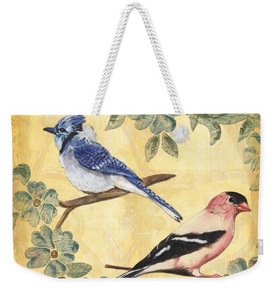 Exotic Bird Floral And Vine 1 Weekender Tote Bag