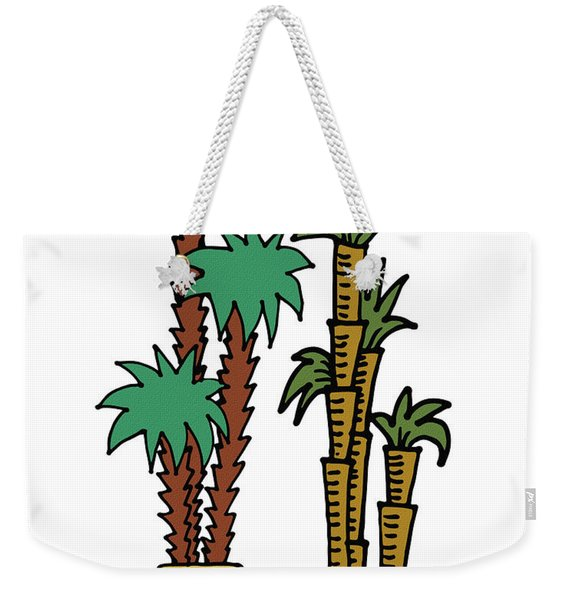 Exotic Couple Plants Illustration  Weekender Tote Bag
