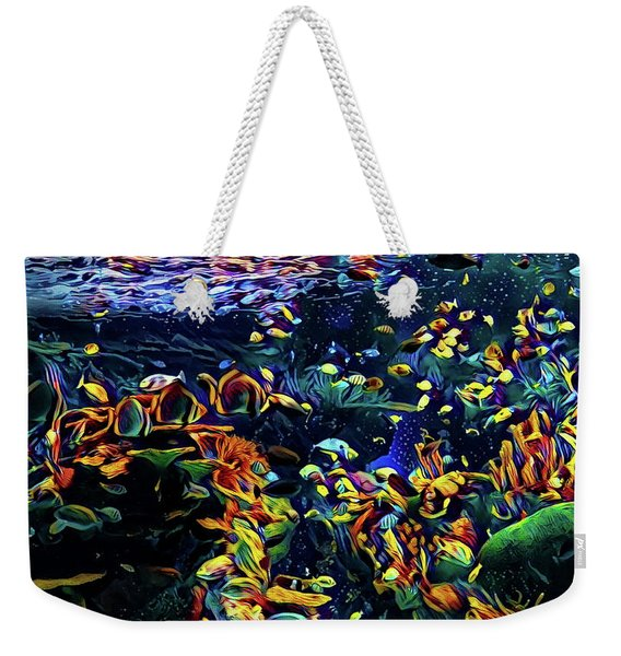 Exotic Tropical Marine Fish Weekender Tote Bag