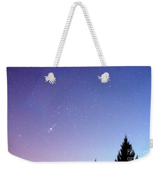 Expanding Sky Weekender Tote Bag