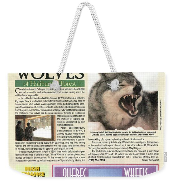 Explore Magazine - Wolves Article Weekender Tote Bag