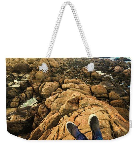 Exploring The Beaches Of Western Tasmania Weekender Tote Bag