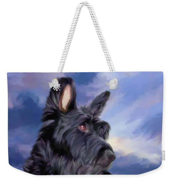 Expression Is Everything Scottish Terrier Dog Weekender Tote Bag
