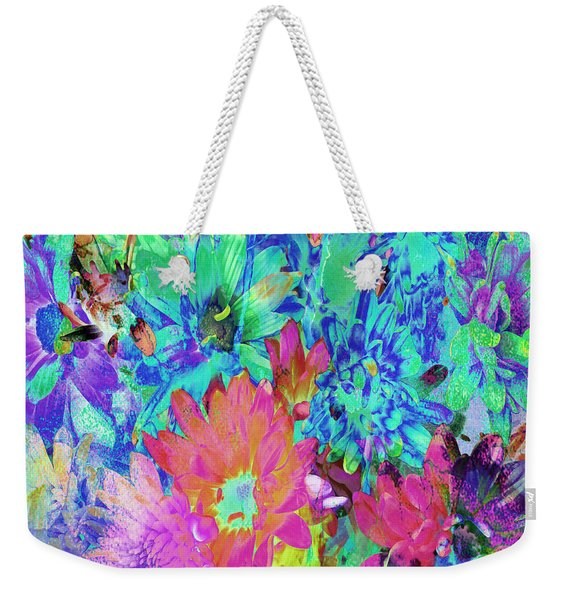 Weekender Tote Bag featuring the painting Expressive Digital Still Life Floral B721 by Mas Art Studio