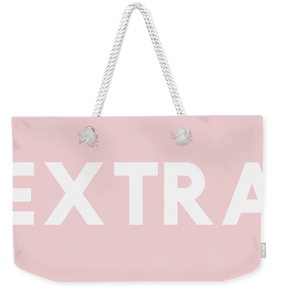 Extra Pink And White- Art By Linda Woods Weekender Tote Bag