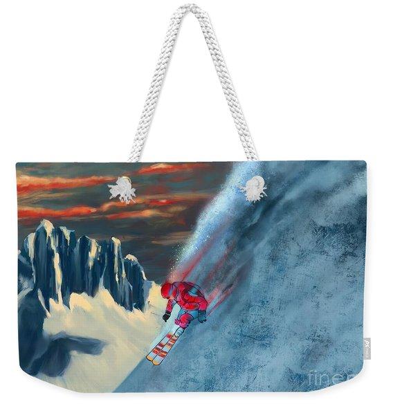 Extreme Ski Painting  Weekender Tote Bag