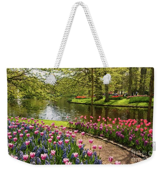 Weekender Tote Bag featuring the painting Exuberance  by Rosario Piazza