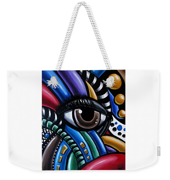 Eye Abstract Art Painting - Intuitive Chromatic Art - Pineal Gland Third Eye Artwork Weekender Tote Bag