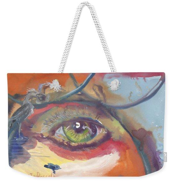 Eye See A Bird Weekender Tote Bag
