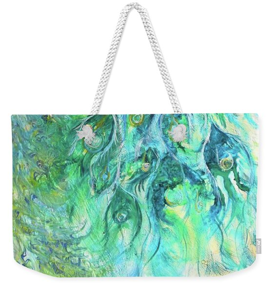 Eyes Of Eden Peacock Weekender Tote Bag