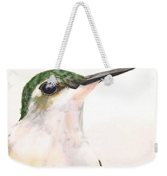 F. Ruby Throated Hummingbird Weekender Tote Bag