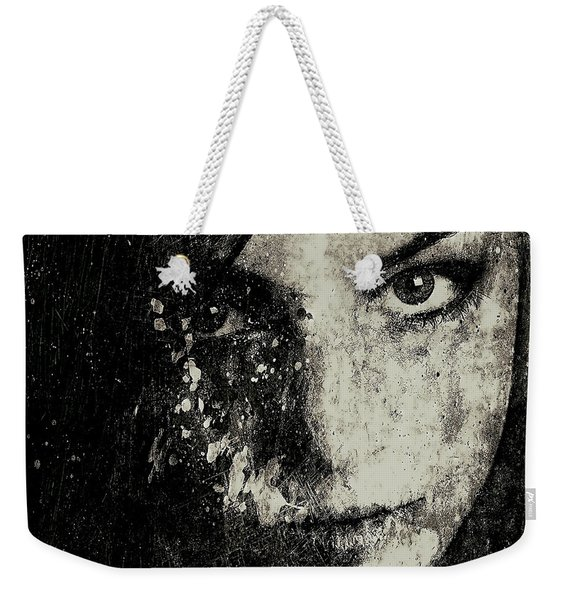 Face In A Dream Grayscale Weekender Tote Bag
