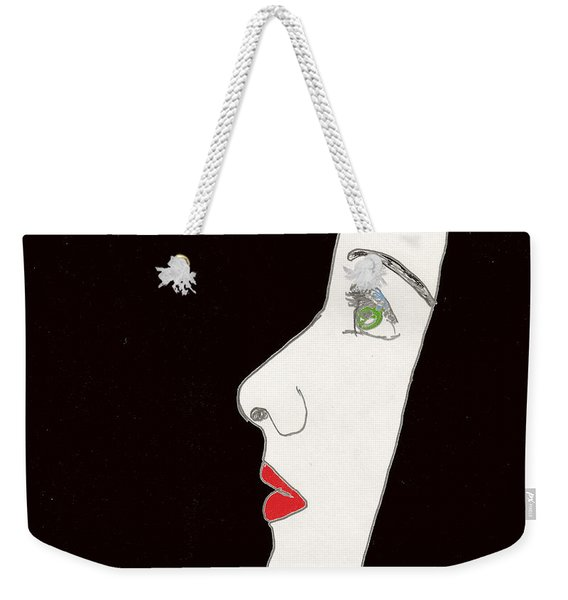 Face In Profile Weekender Tote Bag