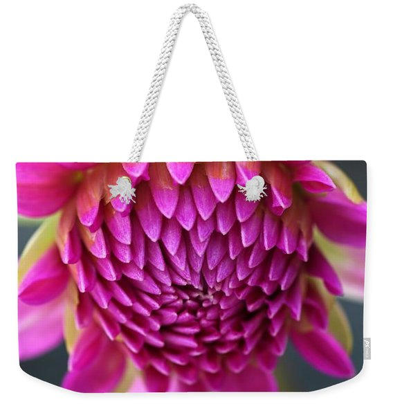 Face Of Dahlia Weekender Tote Bag