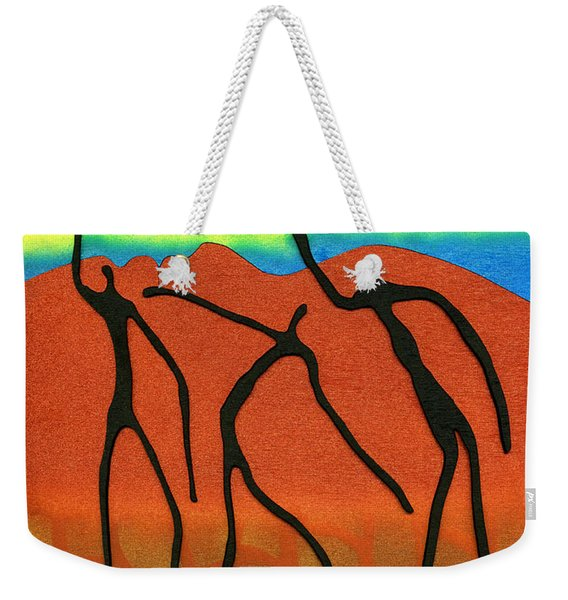 Face To Face Weekender Tote Bag