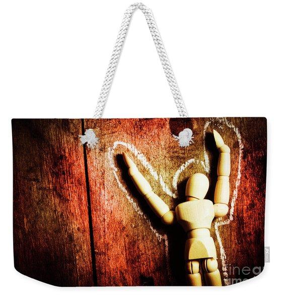 Faceless Victim Weekender Tote Bag