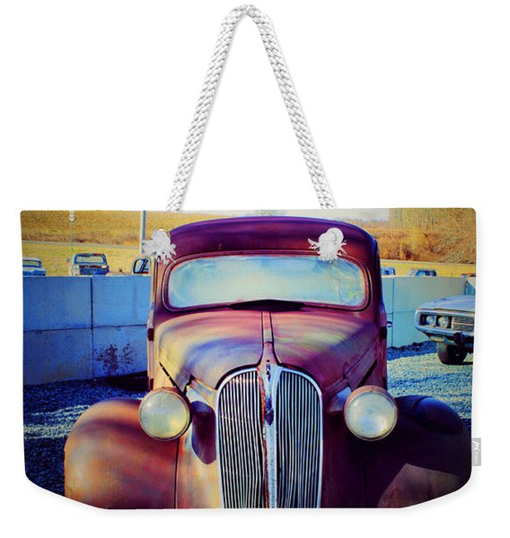 Facelift Wanted Car Weekender Tote Bag