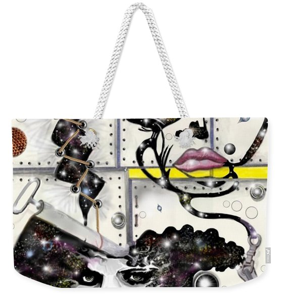 Faces In Space Weekender Tote Bag