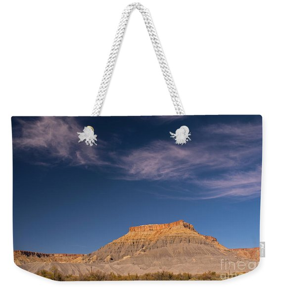 Factory Butte Utah Weekender Tote Bag