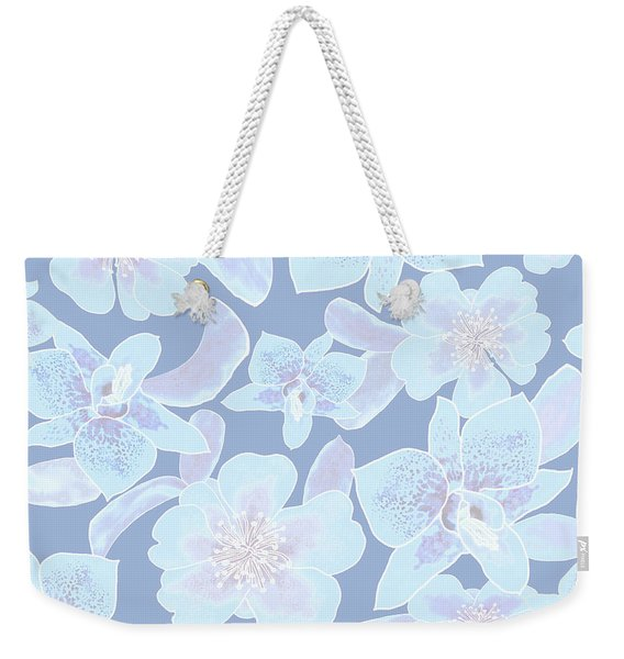 Faded Blue Spotted Orchids Weekender Tote Bag