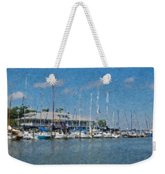 Fairhope Yacht Club Impression Weekender Tote Bag