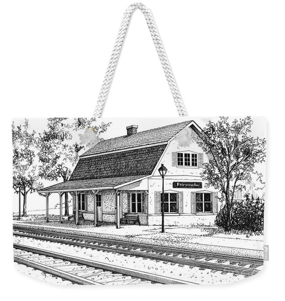 Fairview Ave Train Station Weekender Tote Bag