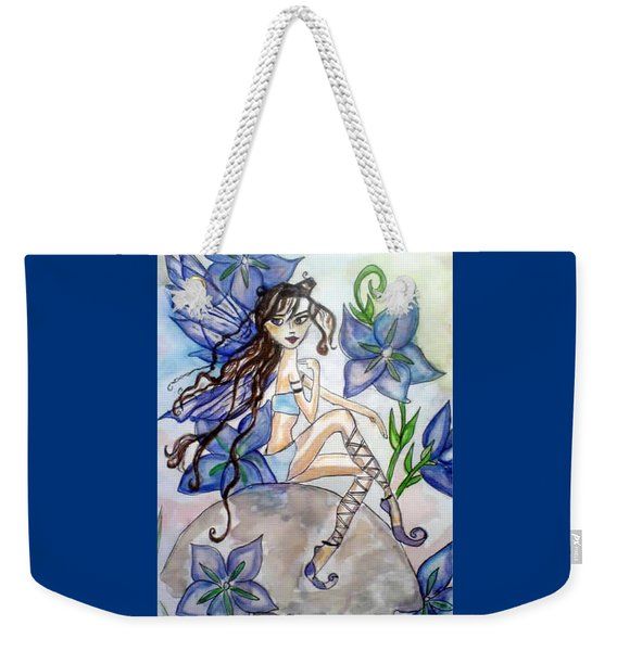 Fairy Blue Weekender Tote Bag