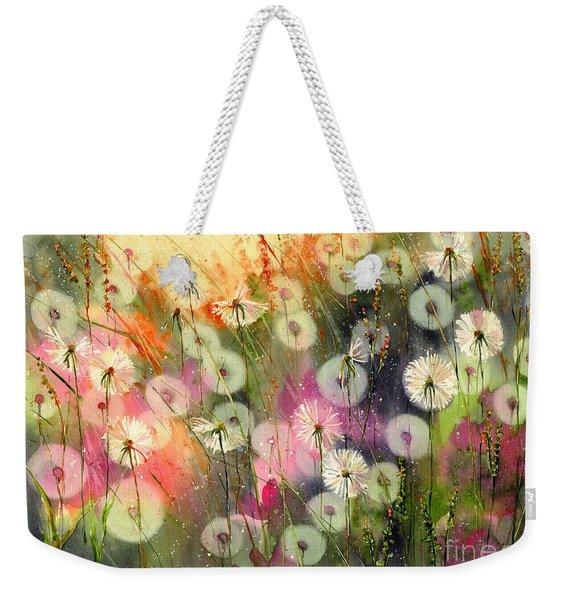 Fairy Dandelions Fields Weekender Tote Bag