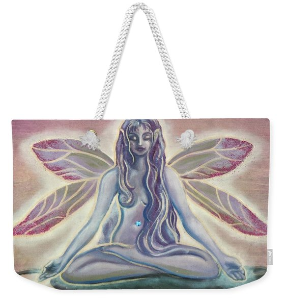 Fairy Doing Yoga Weekender Tote Bag
