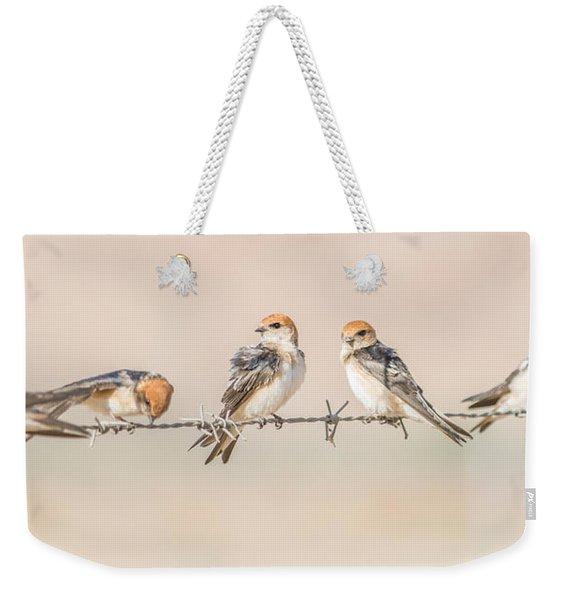Fairy Martins Weekender Tote Bag