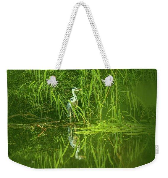 Fairy Tale Heron #g5 Weekender Tote Bag