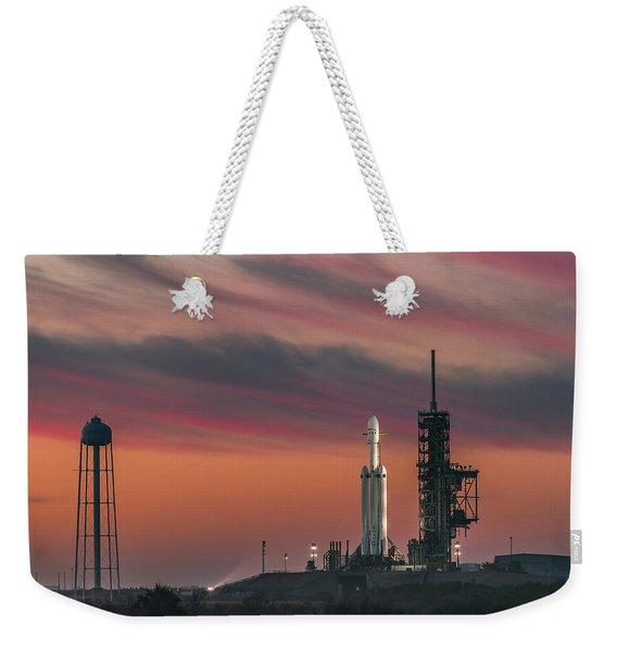 Falcon Heavy Epic Sky Weekender Tote Bag
