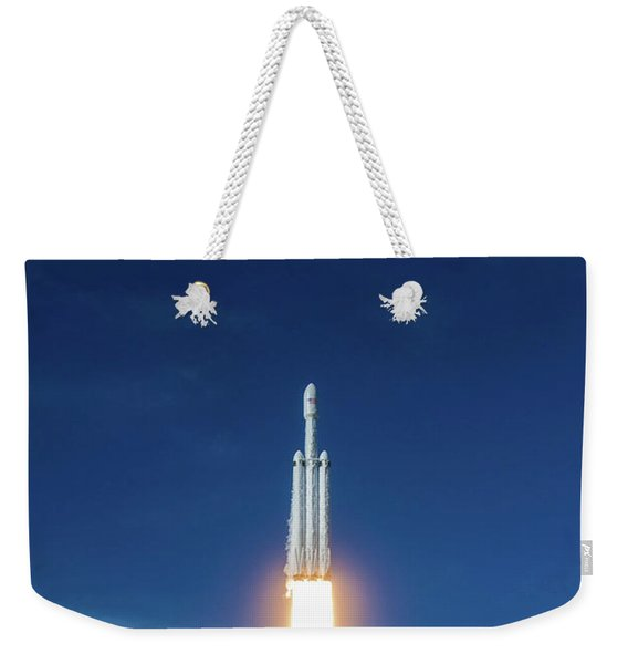 Falcon Heavy Launch Weekender Tote Bag