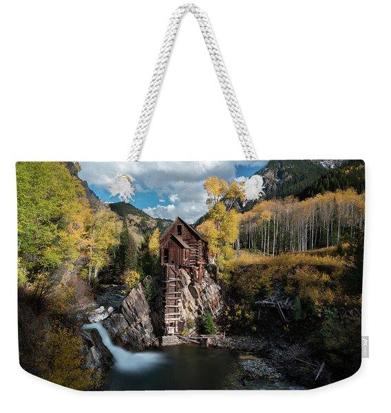 Fall At Crystal Mill Weekender Tote Bag