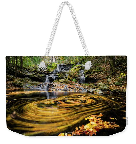 Fall At Garwin Falls Weekender Tote Bag
