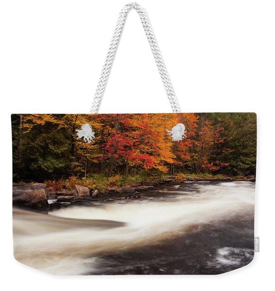 Fall At Oxtongue Rapids Weekender Tote Bag