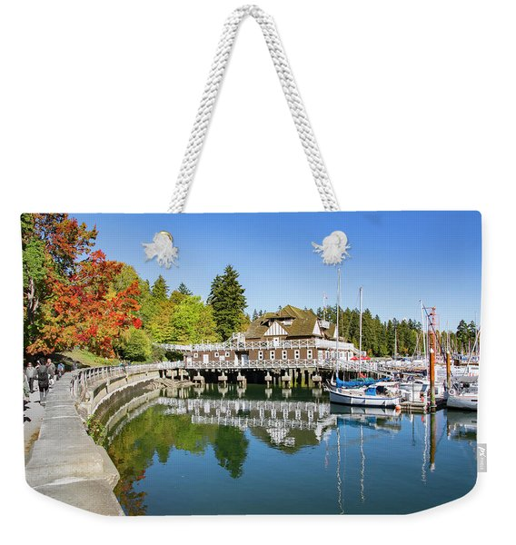 Fall At The Rowing Club In Vancouver Weekender Tote Bag