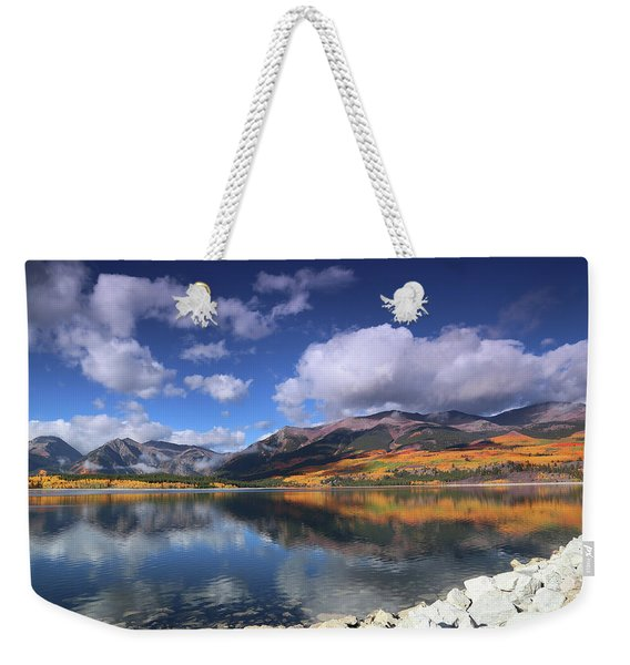 Fall At Twin Lakes Weekender Tote Bag