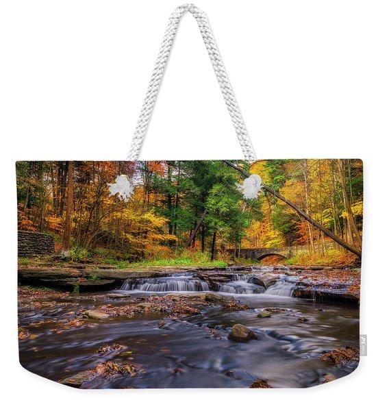 Fall At Wolf Creek Weekender Tote Bag