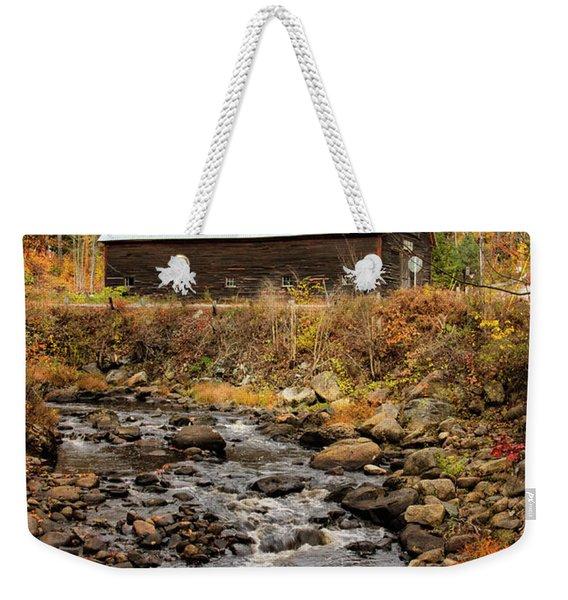 Fall Barn  Weekender Tote Bag