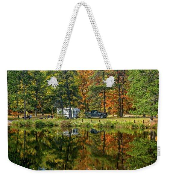 Fall Camping Weekender Tote Bag