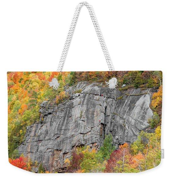 Fall Climbing Weekender Tote Bag