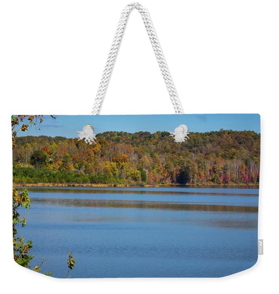 Fall Color At Lake Zwerner Weekender Tote Bag