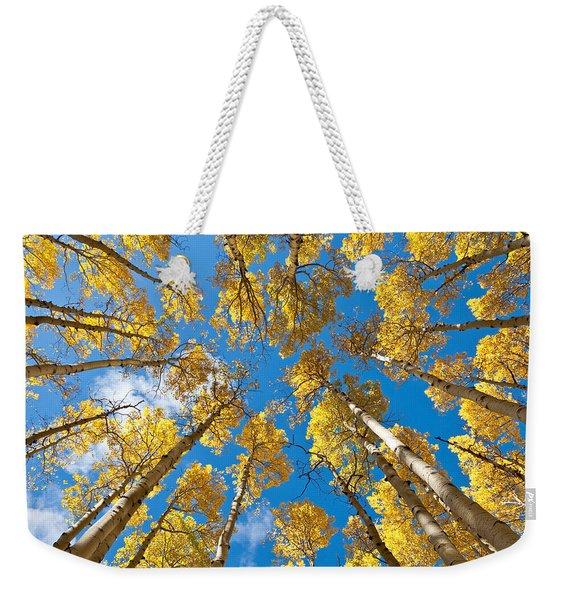 Fall Colored Aspens In The Inner Basin Weekender Tote Bag