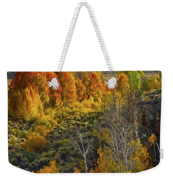 Fall Colors At Aspen Canyon Weekender Tote Bag