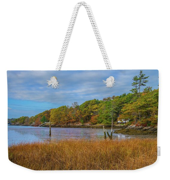 Fall Colors In Edgecomb Too Weekender Tote Bag