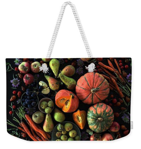 Fall Farmers' Market Weekender Tote Bag