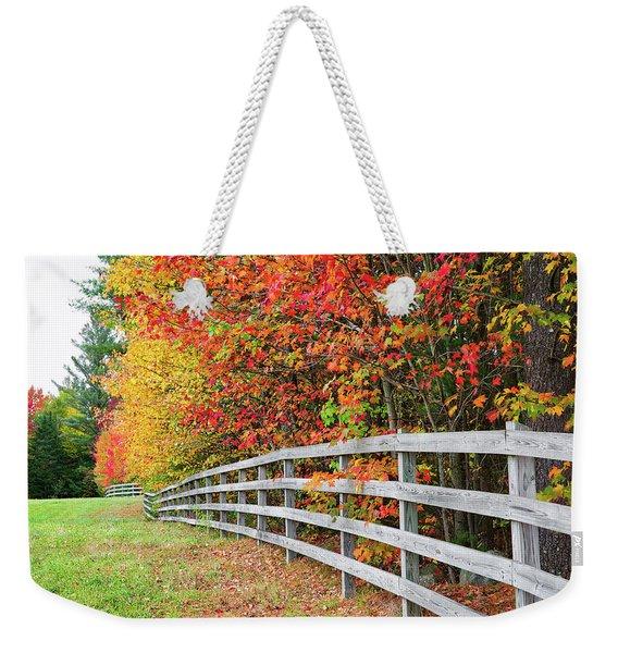Fall Fence Weekender Tote Bag