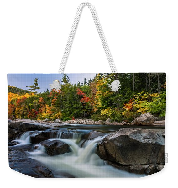 Fall Foliage Along Swift River In White Mountains New Hampshire  Weekender Tote Bag